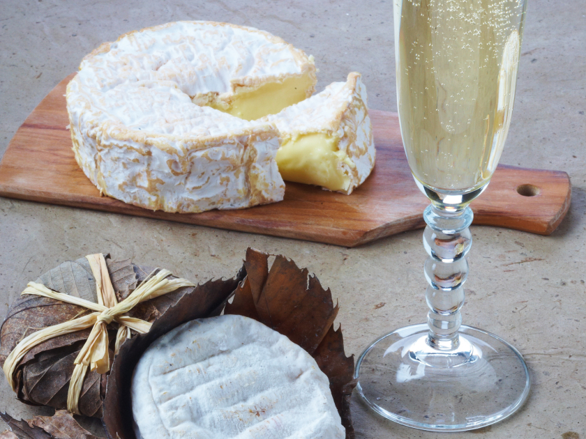 Soft Camembert & Blanc de Blancs Champagne