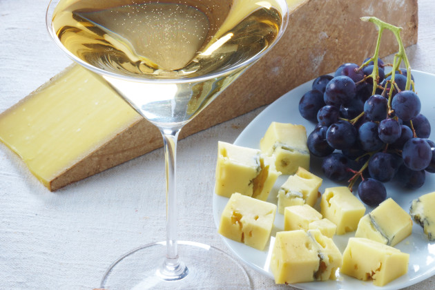Creamy Morbier and old vintage Champagne